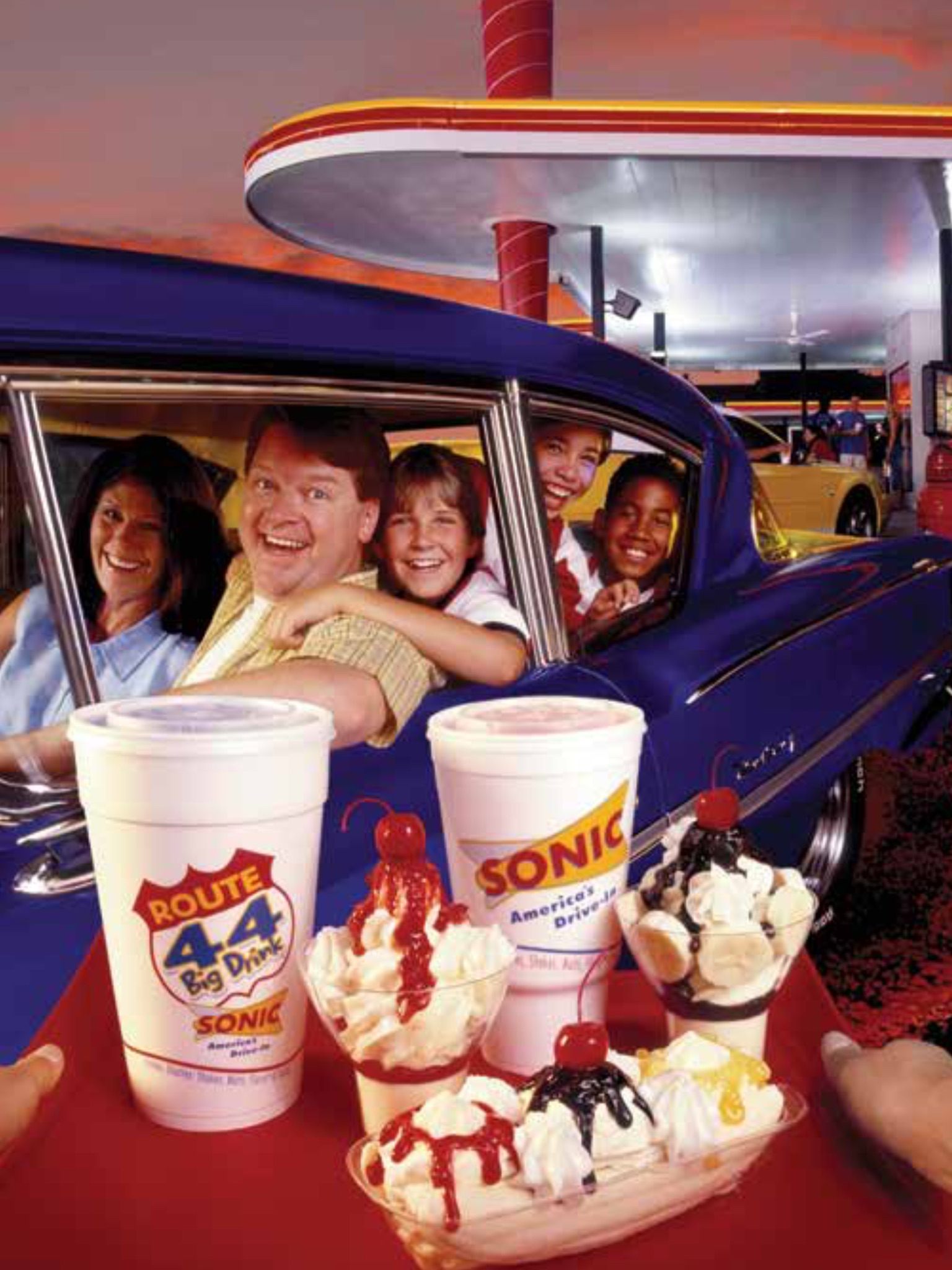 Clifford Hudson with Sonic Drive Ins Ice Cream promotion